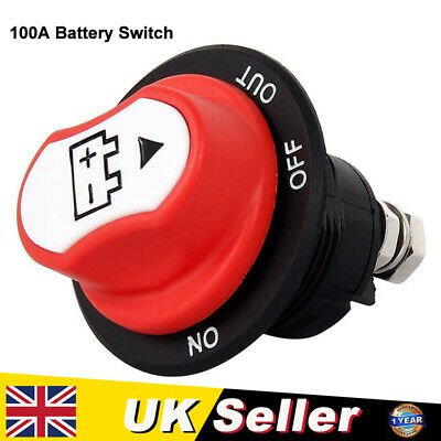 100a Battery Isolator Switch Cut Off Disconnect Terminal Car Van Boat 12-32v Uk • 10.69£