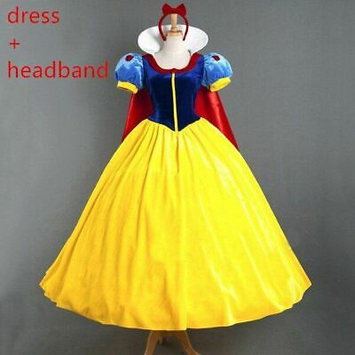 Women Snow White Dress Adult Prom Princess Birthday Party Cinderella Costume  • 41.99£
