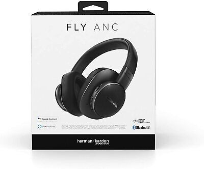 $ CDN117.42 • Buy Harman Kardon Fly Wireless Over-Ear Active Noise Cancelling Headphones - Black