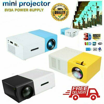 AU54.74 • Buy YG300 1080P Home Theater Cinema USB HDMI AV SD Mini Portable HD LED Projector F#