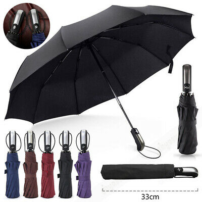 AU19.99 • Buy 10 Ribs Compact Umbrella Automatic Open & Close Folding Windproof Strong Travel