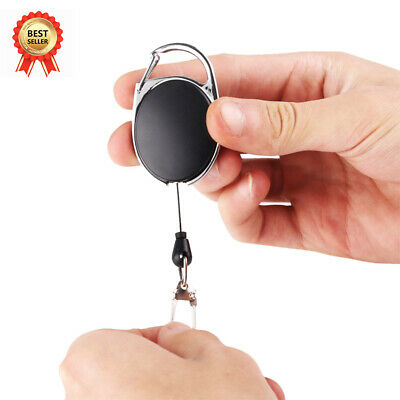 Telescopic Wire Rope Anti Lost Key Ring Keychain Retractable Gear Finder Gadget • 3.19£