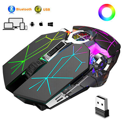 AU29.99 • Buy AU Bluetooth Gaming Mouse, Rechargeable Wireless Mice, For Laptop PC Windows Mac