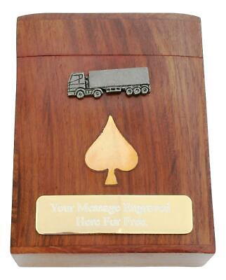 Articulated Lorry Poker Playing Cards In Wooden Box PERSONALISED 446 • 19.99£