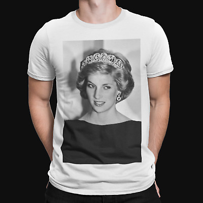 £5.99 • Buy Princess Diana Black And White T-Shirt - Retro - Royal Family - Cool - UK- Queen