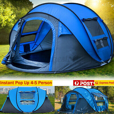 AU99.59 • Buy 5-8 Person Tent  Waterproof  Automatic Instant Open Shade Camping Family Hiking