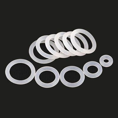 20pcs Clear Silicone O-Rings Rubbe Various Sizes High Temperature Resistant Seal • 1.91£