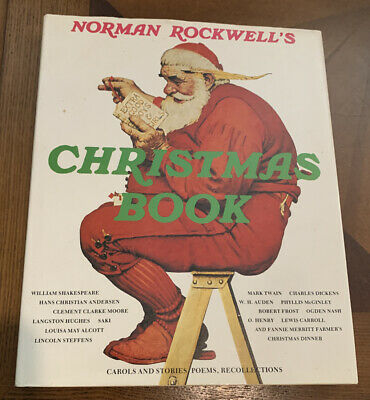 $ CDN13.32 • Buy Vintage Norman Rockwell's Christmas Book Carols, Stories, Poems, Collection 1977