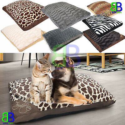 Large & Extra Large Filled Pet Beds Cats Dogs Washable Zipped Mattress Cushions • 13.95£