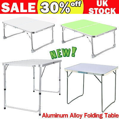 Folding Camping Table Aluminium Picnic Portable  Party BBQ Tables Indoor Outdoor • 11.99£