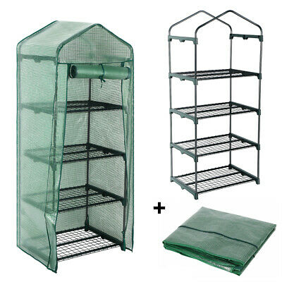 4 Tier Mini Greenhouse With Shelves Garden Outdoor Plant Growhouse Protective • 32.97£