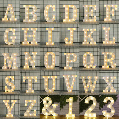 £7.42 • Buy LED Alphabet Letters Lights Large Light Up Plastic Numbers Party Birthday Sign