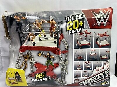 2015 WWE Superstar Ring Builder Play Set- 1 Piece Missing - With Original Box   • 21.99£
