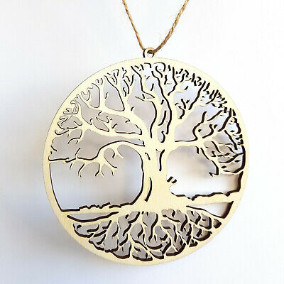 Tree Of Life Hanging Wooden Decoration Gift Home Decor Ornament Handmade Gift • 5.99£