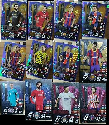 MATCH ATTAX 2020/21 Season 20/21 Foils 100 CLUB Promos Limited Edition Instock • 10.45£
