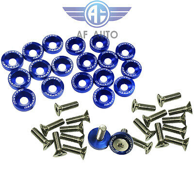 $8.88 • Buy Blue 20pcs Billet Aluminum Bumper/Fender Washer/Bolt Engine Bay Dress Up Kit