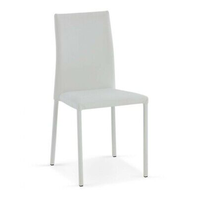 White Stackable Italian Dining Room Chair - Roma • 79£