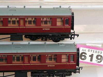 P619 Bachmann 60' Collett BR 1st/2nd Maroon X 2 00 Scale • 36£