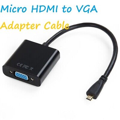 Micro HDMI Male To VGA Female Video Cable Adapter Lead For Phone Projector Table • 3.99£