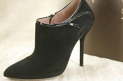 Gucci Womens Beverly Ankle Booties Size 37 Black Suede Pointy Toe Stiletto • 414.36£