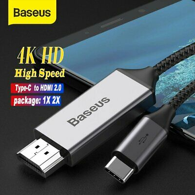AU28.49 • Buy Baseus USB C To HDMI Cable Type C 4K HD Projector Adapter For TV Macbook Samsung