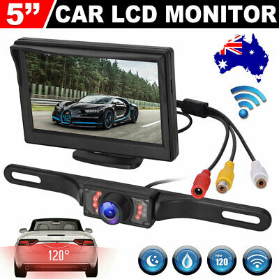 AU38.95 • Buy 5  TFT LCD Monitor Car Rear View Kit 120° IR Reversing Reverse Camera AU STOCK