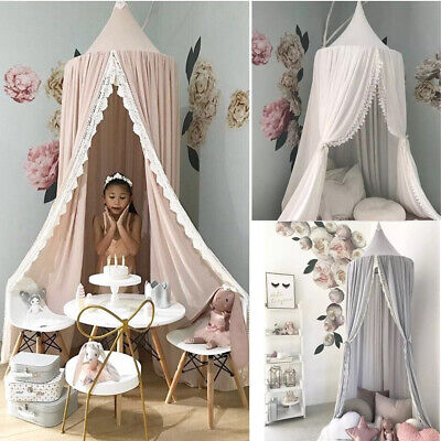 Kids Bed Canopy Bedcover Mosquito Net Princess Curtain Baby Bedding Dome Tent • 23.89£