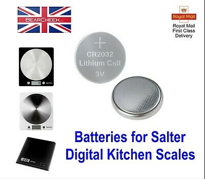 2 X Batteries/Battery For Various Salter Digital Kitchen Weighing Scales  • 2.99£