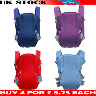 Adjustable Infant Baby Carrier Wrap Sling Hip Seat Newborn Backpack Breathable I • 8.59£