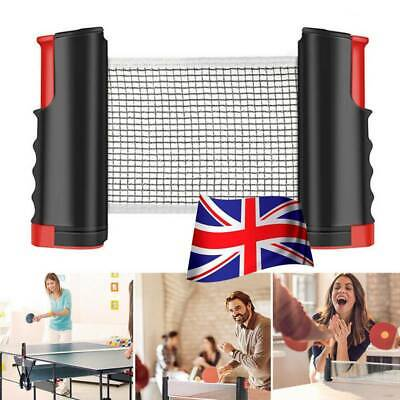 Portable Indoor Games Replacement Set Retractable Table Tennis Ping Pong Net Kit • 9.59£