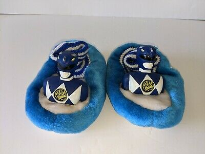 £19.99 • Buy Very Rare MMPR Power Rangers Blue Wild Force Baby Slippers 7-8 Mths Never Worn