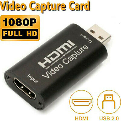 HDMI To USB Video Capture Card Screen Record 1080P For Game / Live Streaming  • 6.99£