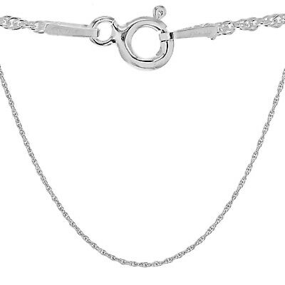 TJC 925 Sterling Silver Prince Of Wales Chain Necklace For Women Size 24  • 7£