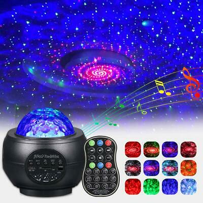 UK Galaxy Star Projector Music Night Light Starry Ocean Wave Lamp Remote Control • 20.89£