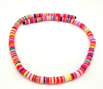 £2.89 • Buy Polymer Clay Disc Beads - 6mm - Mixed Colours -380-400 Beads Per Strand -P00320W