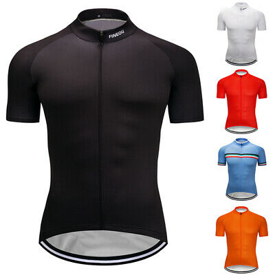 $16.11 • Buy Mens Summer Cycling Jersey Solid Bike Riding Tops Clothing Shirt Garments Outfit