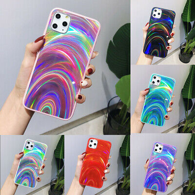 Rainbow 3D Bling Mirror Case For IPhone 11 Pro Max X XR XS Phone Silicone Cover • 3.59£
