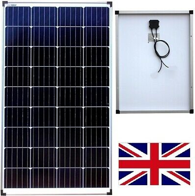 £153.20 • Buy 200w To 100w Monocrystalline Solar Panel /w 3m Cable To Pick Up From Northants