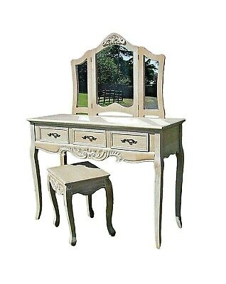 French Louis Xv Style Shabby Chic Ladies/girls Dressing Table Set (cy16229). • 225£