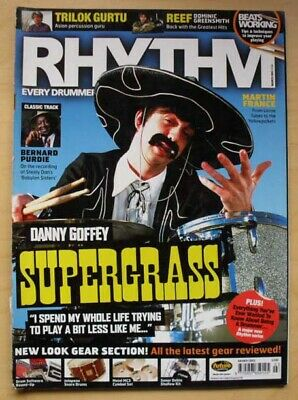 Supergrass Rhythm Magazine March 2003 Danny Goffey Cover With Feature Inside Uk • 8£