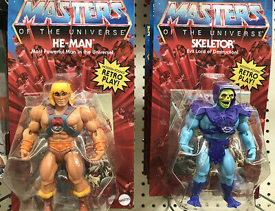 $52 • Buy Masters Of The Universe Origins MOTU Skeletor And He-Man SET 2020 RETRO PLAY