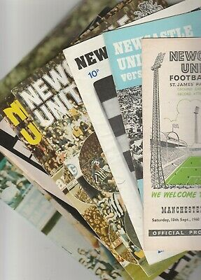 Newcastle United Home Programmes 1960 Onwards • 3£