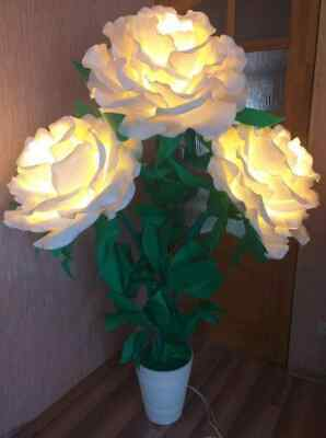 Giant Flowers  Floor  Lamp Roses Decorative Lamp • 330£
