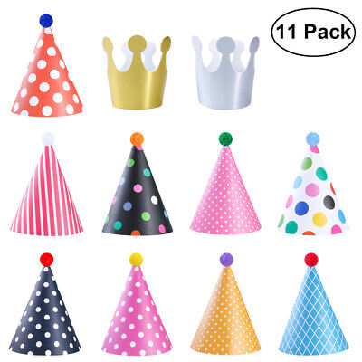 NUOLUX 11pcs Birthday Party Crown Hat Headdress Fun Party Hats  For Kids Adults • 3.59£