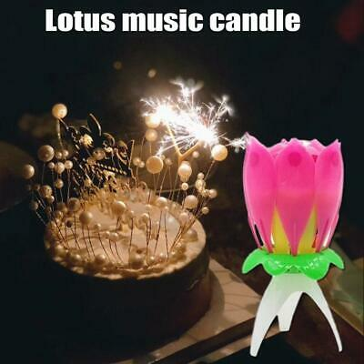 $ CDN2.93 • Buy ROTATING Lotus Candle Birthday Flower Musical Floral Candles Cake Magic Gift