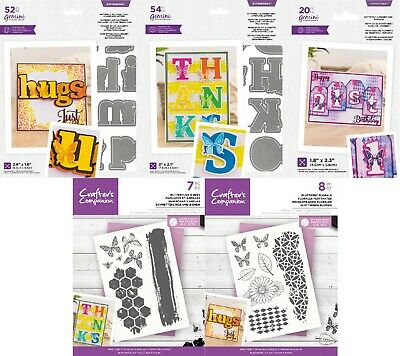 Gemini Metal Dies - Expressions - Butterfly Alphabet Dies By Crafter's Companion • 4.75£