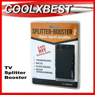 AU17.98 • Buy New Digital Tv Signal 2-way Splitter Booster Hub 2 Outputs Home Share House
