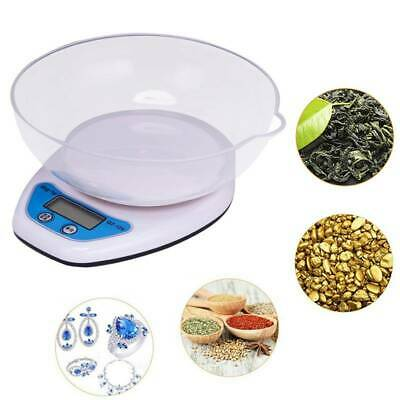 2KG 0.1g DIGITAL KITCHEN SCALES LCD ELECTRONIC COOKING FOOD MEASURING BOWL SCALE • 5.69£