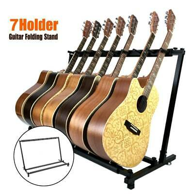 AU30.29 • Buy Foldable 7 Way Multi Guitar Stand Acoustic Electric Bass Guitar Iron&Rubber Rack