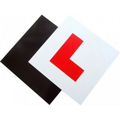 2 Pack - Premium Quality Fully Magnetic Learner Driver L Plates For Car Or Bike • 2.10£
